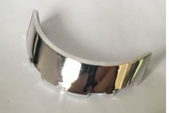 Chrome Silver Windscreen 3 x 6 x 1 Curved   62360  Custom chromed by Bubul