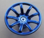 62701 Chrome BLUE Wheel Cover 9 Spoke - 24mm D. - for Wheel 55982   part: 62701  Custom chromed by Bubul