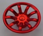 62701 Chrome RED Wheel Cover 9 Spoke - 24mm D. - for Wheel 55982   part: 62701  Custom chromed by Bubul