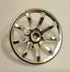 62701 Chrome Silver Wheel Cover 9 Spoke - 24mm D. - for Wheel 55982   part: 62701  Custom chromed by Bubul