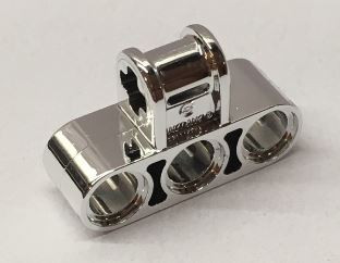 63869 Chrome Silver Technic, Axle and Pin Connector Perpendicular Triple  63869 Custom Chromed by BUBUL