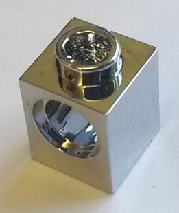 Chrome Silver Technic, Brick 1 x 1 with Hole    6541  Chromed by Bubul