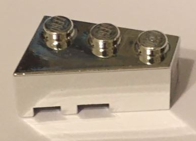 6564 Chrome Silver Wedge 3 x 2 Right  Custom Chromed by Bubul
