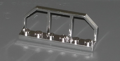 Chrome Silver Plate, Modified 1 x 6 with Train Wagon End   Part:6583 chromed by Bubul