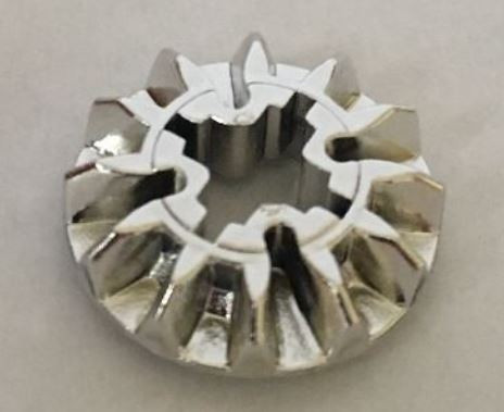 6589_Chrome Silver Technic, Gear 12 Tooth Bevel  6589 Custom Chromed by BUBUL