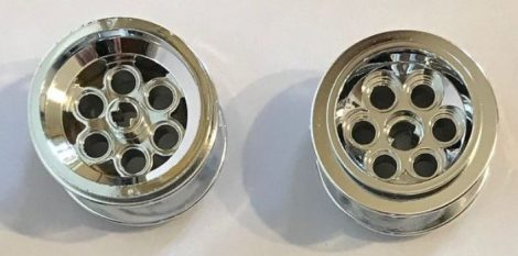 6595 Chrome Silver Wheel 49.6 x 28 VR with Axle Hole  6595 similar that 22253 and  23243 Custom Chromed by BUBUL