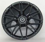 68577 Chrome Black Chrome-Titan Wheel 62.3mm D. x 42mm Technic Racing Large with 10 'Y' Spokes Custom Chromed by Bubul Lamborghini Sian rim