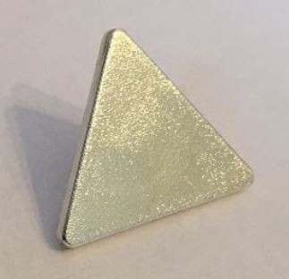 Chrome Silver Road Sign Clip-on 2 x 2 Triangle  892 Custom Chromed by BUBUL