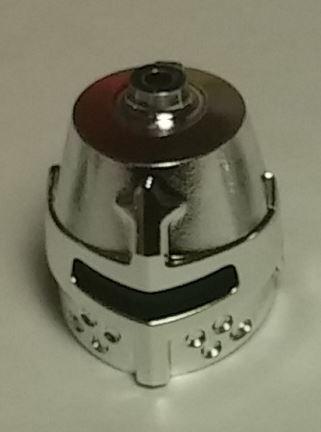 89520 Chrome Silver Minifig, Headgear Helmet Castle Closed with Eye Slit  89520 Custom Chromed by Bubul