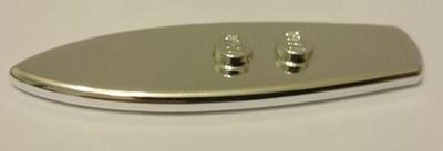Chrome Silver Minifig, Utensil Surfboard Standard   90397 or 17947  Custom chromed by BUBUL