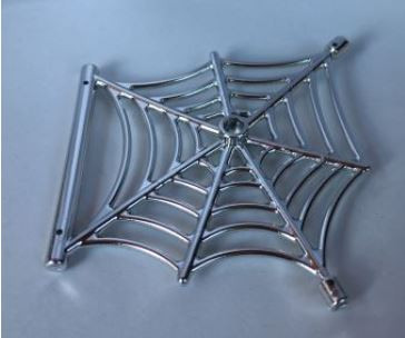 Chrome Silver Spider Web with Bar  90981 Custom Chromed By BUBUL
