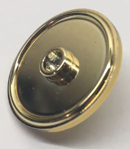 91884 Chrome GOLD Minifig, Shield Round with Stud and Ring Around Edge Custom Chromed by BUBUL