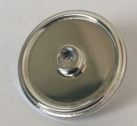 91884 Chrome Silver Minifig, Shield Round with Stud and Ring Around Edge Custom Chromed by BUBUL