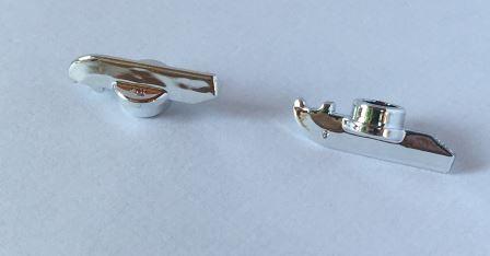 Chrome Silver Minifig, Footgear Ice Skate  93555 or 18754 Custom Chromed by BUBUL