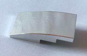 93606 Chrome Silver Slope, Curved 4 x 2 No Studs  93606 Custom Chromed by BUBUL
