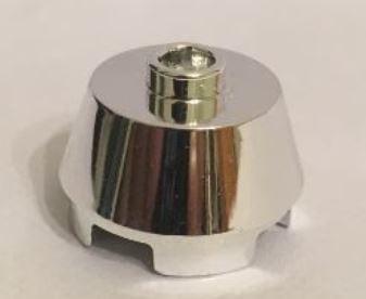 98100 Chrome Silver Cone 2 x 2 Truncated  98100 Custom Chromed by BUBUL