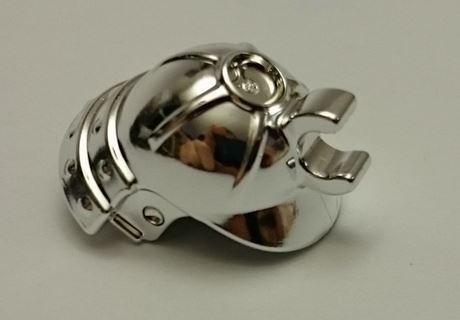 Chrome Silver Minifig, Headgear Helmet Ninja (Ninjago Samurai)  98128 Custom chromed by BUBUL