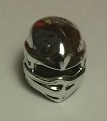 Chrome Silver Minifig, Headgear Ninjago Wrap, Plain   98133  Custom Chromed by Bubul