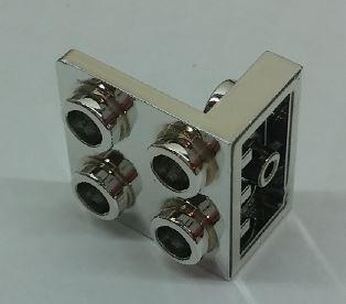 Chrome Silver Bracket 1 x 2 - 2 x 2 Inverted  Part: 99207 Custom Chromed by Bubul