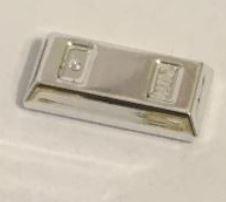 99563_Chrome Silver Minifig, Utensil Ingot / Bar  99563 or 95349 Custom Chromed by BUBUL