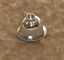 Chrome Silver Minifig, Headgear Pith Helmet   Part:x133 chromed by Bubul